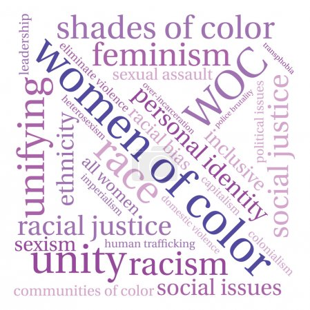 Women Of Color Word Cloud