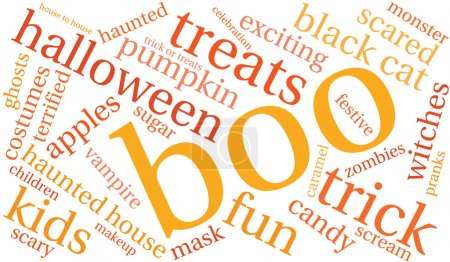 Boo Halloween Word Cloud