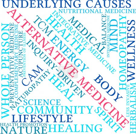 Illustration for Alternative Medicine word cloud on a white background. - Royalty Free Image