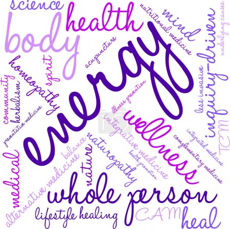 Illustration for Energy word cloud on a white background. - Royalty Free Image