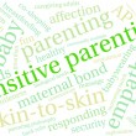 Sensitive Parenting word cloud on a white backgrou...