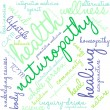 Naturopathy word cloud on a white background....