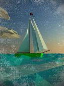 Sailing  polygon yacht