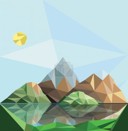polygon abstract mountains landscape