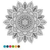 Circle mandala ornament antistress coloring