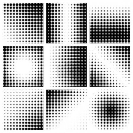 Illustration pour Pois demi-tons sur fond blanc. Illustration vectorielle - image libre de droit