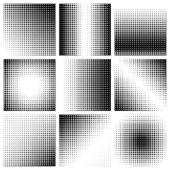 Halftone dots on white background Vector illustration