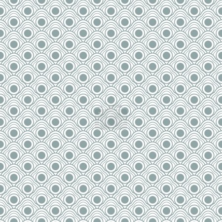 Illustration for Vector geometric seamless vector curvy waves pattern - Royalty Free Image