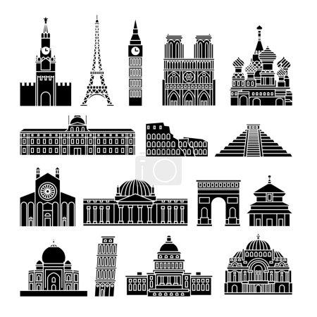 Travel Landmarks Icons