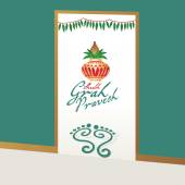 Illustration of housewarming invitation with pinnacle vector