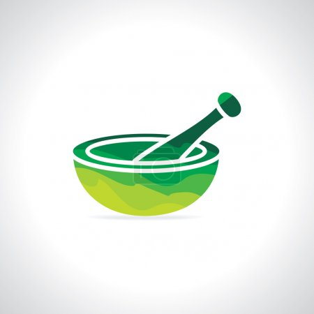 Illustration for Mortar and pestle vector illustration - Royalty Free Image