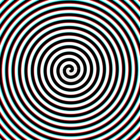 Illustration pour Effet 3d hypnose fond spirale. illustration vectorielle - image libre de droit