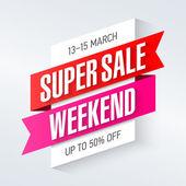 Super víkend prodej plakát