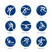 set of summer sport icons