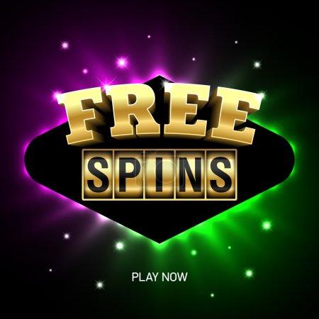Free Spins banner, casino