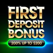 First Deposit Bonus banner