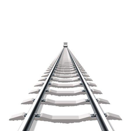 Railway. Detailed vector....
