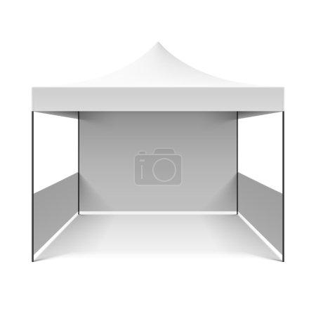 White folding tent. Vector....