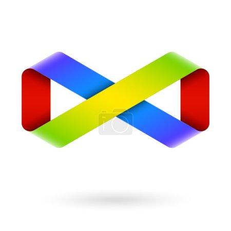 Infinity symbol. Vector....