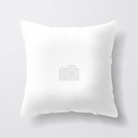 Blank white square pillow