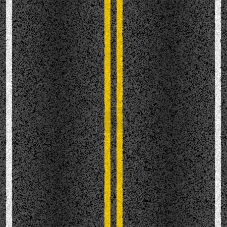 Asphalt road with marking lines