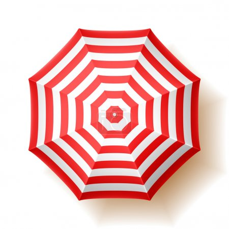 Illustration for Beach umbrella, top view. Vector. - Royalty Free Image