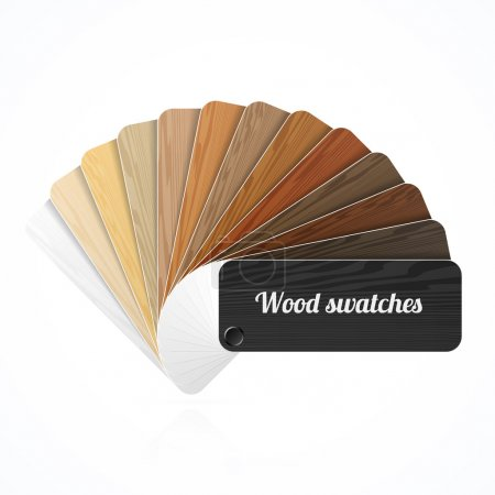 Wood color swatches
