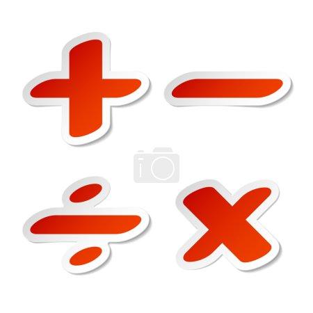Division, minus, plus, multiplication sign