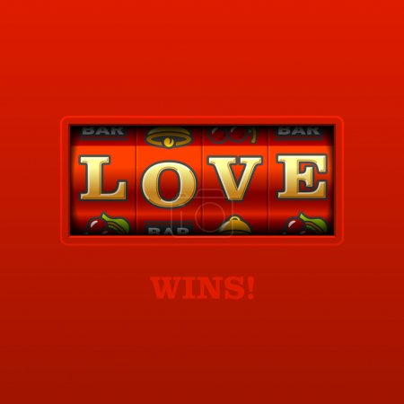 Love wins, slot machine