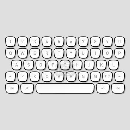 Keyboard keys. Vector....