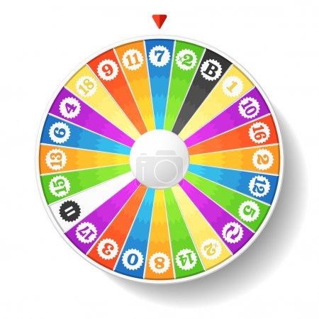 Illustration for Wheel of fortune. Vector - Royalty Free Image