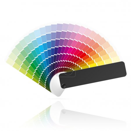 Illustration for Color palette guide, fan, catalogue. Vector. - Royalty Free Image