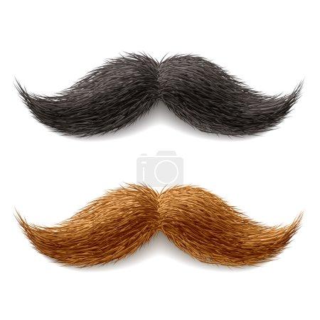 Fake mustaches. Vector....