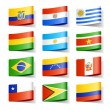 World flags. South America. Vector....