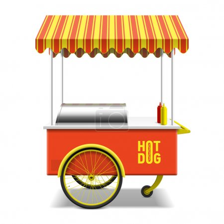 Hot dog, street cart