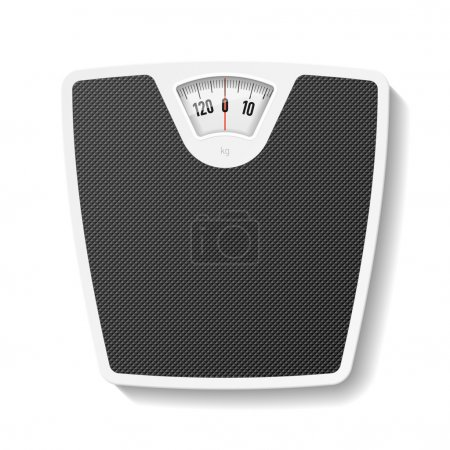 Illustration for Bathroom scale. Vector. - Royalty Free Image
