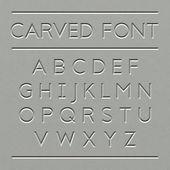 Geschnitzte Schriftdesign