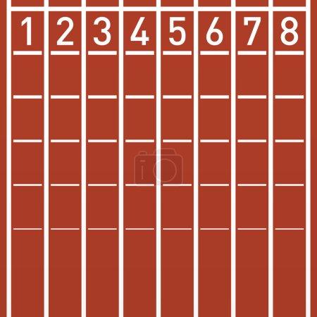 Track lane numbers