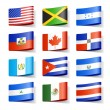 World flags. North America. Vector....