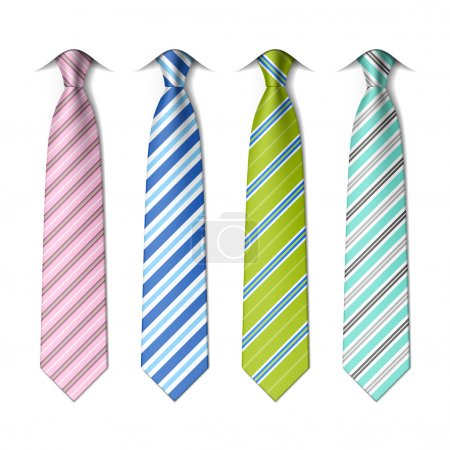 Striped silk ties template