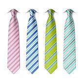 Striped silk ties template