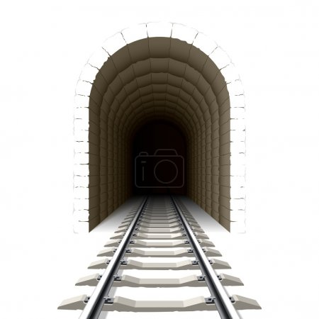 Entrance to railway tunnel