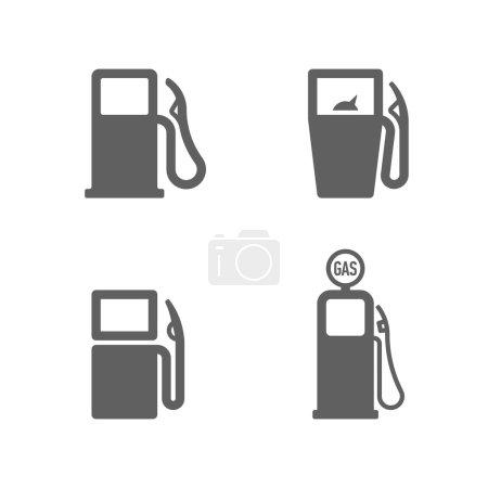 Illustration pour Icônes de pompe à essence. Vecteur . - image libre de droit