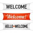 Hello and Welcome banners. Vector....