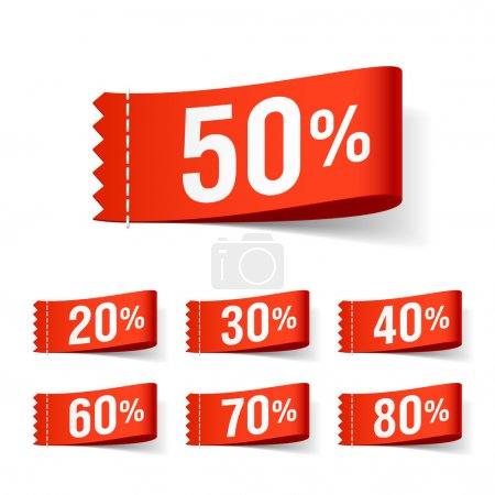 Discount labels. Vector....