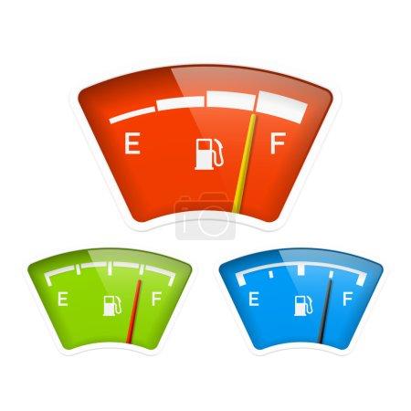 Illustration pour Jauge carburant. Vecteur . - image libre de droit
