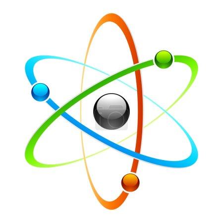 Illustration for Atom symbol. Vector. - Royalty Free Image