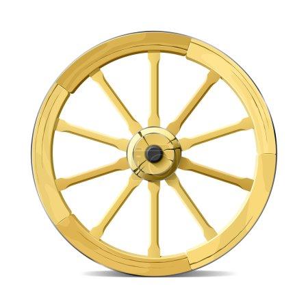 Illustration for Wagon wheel. Vector illustration. - Royalty Free Image