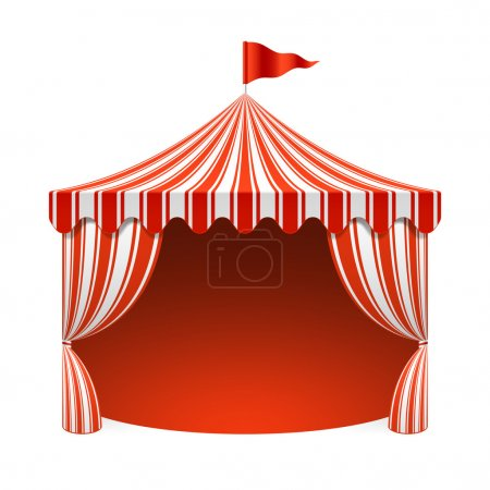 Illustration for Circus tent, poster background. Vector. - Royalty Free Image