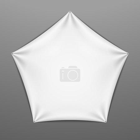 Pentagonal shape with folds